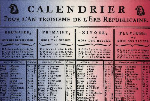 French Revolution The New E Kitsch Revolutionary Calendar