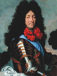 Ritratto di Luigi XIV (1684). Il Re Sole si dedicava con passione al gioco delle bocce