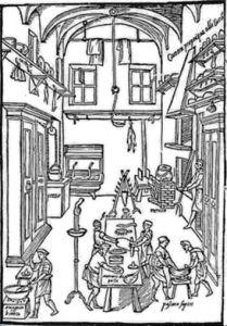 Un'antica cucina. Nel post trovate la ricetta originale di Messisbugo per fare la mostarda