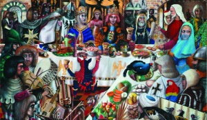 """Pranzo natalizio medievale. Tra i piatti più in voga c'erano gli """"zanzarelli"""""""