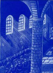 Mensa all'interno di un convento. L'acquacotta era un piatto frequente nel Medioevo