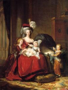La culla vuota accanto a Maria Antonietta ricorda Sofia, l'ultimogenita morta infante