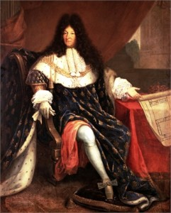 Luigi XIV sul trono di Francia. Il Re Sole ha lasciato scritte importanti riflessioni sulla politica e sul difficile mestiere di Re