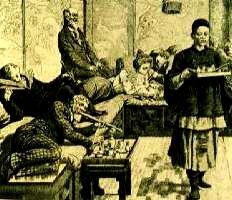 Fumeria d'oppio a Parigi nell'800