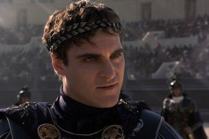 "Joaquin Phoenix interpreta Commodo nel film ""Il gladiatore"""