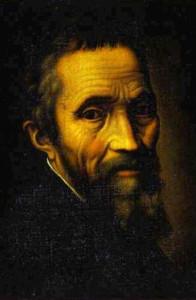 Michelangelo Buonarroti. Il grande artista realizzò una volta un perfetto pupazzo di neve