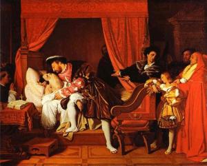La morte di Leonardo di J.A.D. Ingres (Musée du Petit Palais,Parigi)