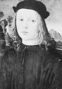 Un giovanissimo Alfonso d'Aragona ritratto da Pinturicchio