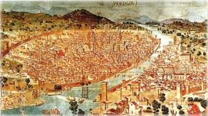 Firenze nel 1500. La città fu meta prediletta, nel Rinascimento, dei più grandi artisti dell'epoca