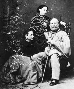 Giuseppe Garibaldi con l'ultima donna della sua vita, Francesca Armosino, ed una figlia