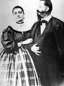 """Vittorio Emanuele II e la """"bella Rosina"""". Sembra che il cibo fosse un """"collante"""" importante per la loro unione"""