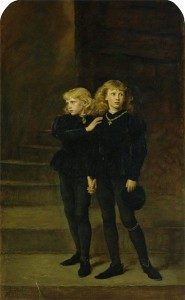 I principi Edoardo V e Riccardo dipinti da Sir John Everett Millais. I due bimbi furono probabilmente fatti assassinare dallo zio