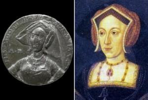 Il ritratto di Anna Bolena, finora ritenuto quello di Jane Seymour, e la moneta con cui è stato confrontato
