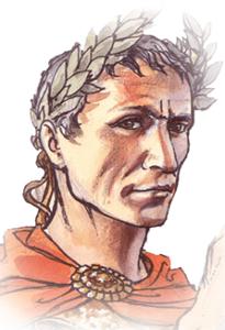 Disegno del volto di Giulio Cesare. Non si sa se il grande politico romano soffrisse di epilessia o ictus