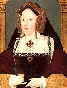 Un ritratto di Caterina d'Aragona. La regina amava molto la compagnia delle scimmie