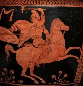 Amazzone greca a cavallo (l'immagine non è quella cui il post si riferisce)