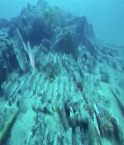 Un'immagine del relitto trovato in Sardegna