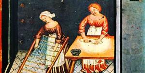 Donne in cucina nel Medioevo