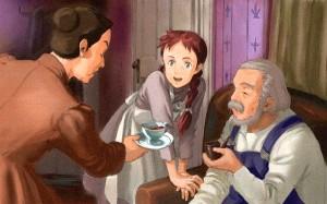 Anna dai capelli rossi, illustrazione dal cartone animato tratto dai romanzi di Lucy Maud Montgomery