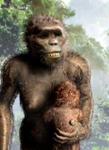 Ricostruzione della fisionomia di Lucy, l'esemplare di Australopiteco afarensis trovato in Africa 41 anni fa