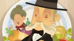 Pellegrino Artusi in un videogioco. La conserva di more è una delle tante ricette da lui raccolte nel famoso testo che porta il suo nome