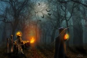 Jack O' Lantern e il diavolo. All'inizio simbolo di Halloween era la rapa, poi sostituita dalla zucca