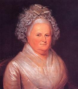 Ritratto di Martha Dandridge Custis, prima first lady d'America e della Storia