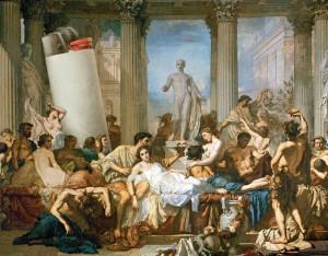 Un banchetto nell'Antica Roma. La sbornia era all'ordine del giorno