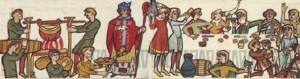 Une table au Moyen Age. Le gazéifiée présenté dans ce post est donné par le grand chef Maestro Martino