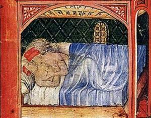 """Un'immagine osé del Medioevo. Le """"corna"""" erano diffuse anche allora e fu proprio nel Medioevo che nacque l'espressione """"mettere le corna"""""""