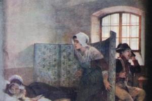 """Il dipinto di Tony Robert-Fleury intitolato """"Maria Antonietta il mattino della sua esecuzione"""". La ragazza sulla destra è Rosalie Lamorliére immaginata dall'autore"""