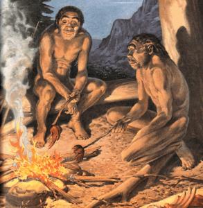 Un antichissimo barbecue tra amici