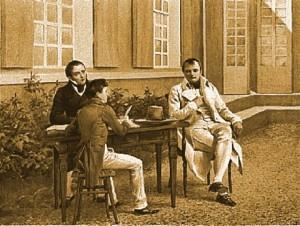 Napoleone Bonaparte a Longwood House. L'ultima cena dell'ex Imperatore dei Francesi fu preparata, come sempre, dal suo cuoco