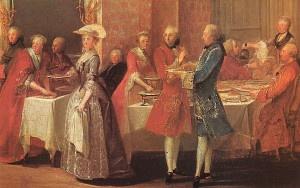 Un pasto a corte. Un pasto a base di pietanze e spezie esotiche, costò a Maria Antonietta e ad altri nobili alcuni giorni di dieta forzata