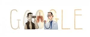 Il doodle che Google dedica oggi a Laennec