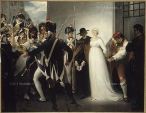 Le ultime ore di Maria Antonietta in un dipinto