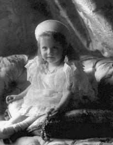 Anastasia Romanova all'età di tre anni