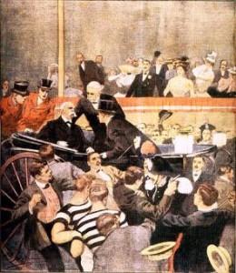 Gaetano Bresci uccide Umberto I (illustrazione dell'epoca)