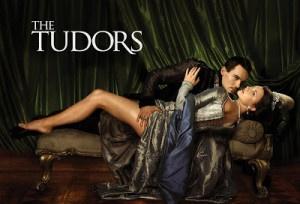 """Locandina della fiction """"The Tudors"""" (seconda serie). Enrico VIII è con Anna Bolena, seconda delle sue 6 mogli"""