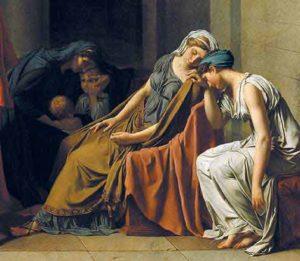 Il giuramento degli Orazi (David): particolare