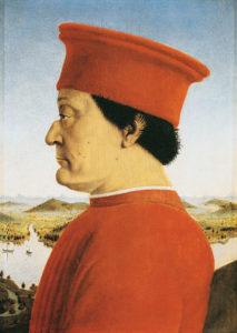 Federico II da Montefeltro ritratto da Piero della Francesca