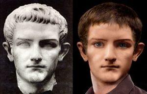 Ricostruzione del volto di Caligola