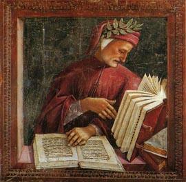 Affresco raffigurante Dante Alighieri