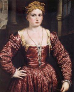 Giovane donna rinascimentale. Per cercare di ridurre il seno, nel '500 si usavano bizzarri ingredienti naturali