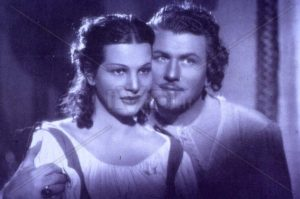 Luisa Ferida ed Osvaldo Valenti in scena
