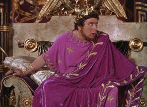 """Un indimenticabile Peter Ustinov nella parte di Nerone nel film """"Quo vadis""""? Sembra che Nerone fosse affetto da una forte miopia"""