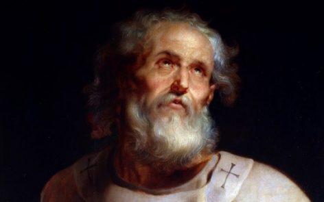 Una ricostruzione del volto di San Pietro