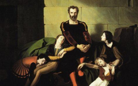 Il Conte Ugolino in prigione. Dipinto ottocentesco di Giuseppe Diotti