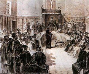 Un processo durante l'Inquisizione