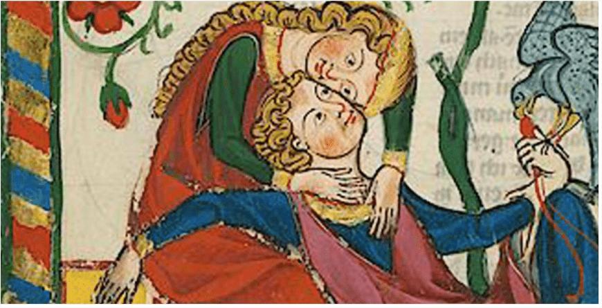"""Due innamorati nel Medioevo. La """"prima volta"""" era in genere per la donna un momento di imbarazzo"""